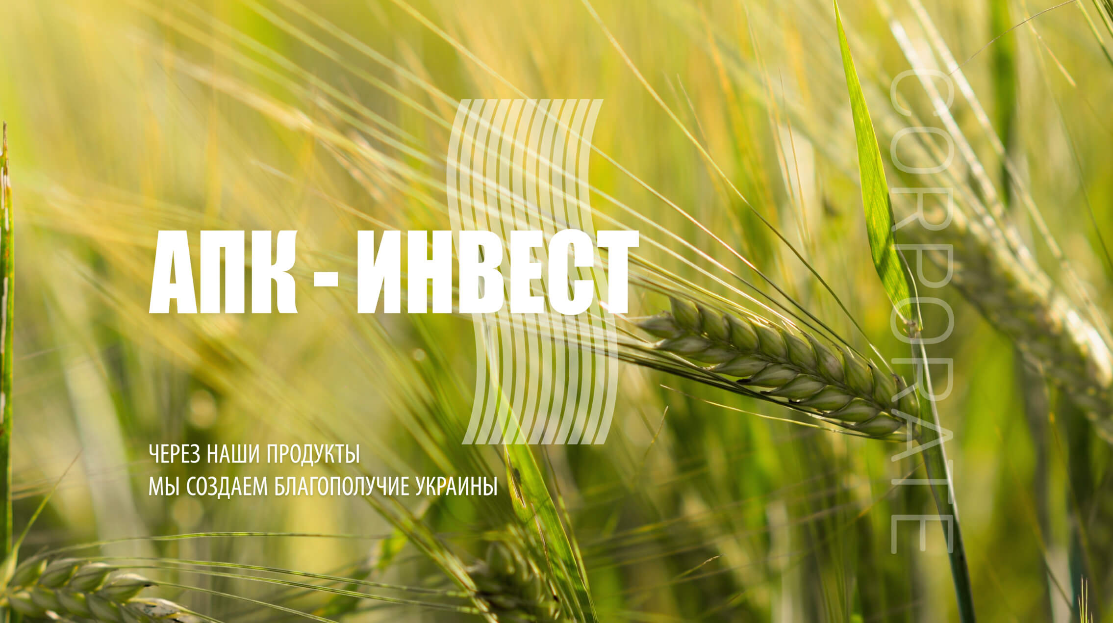 Корпоративный сайт для компании АПК-ИНВЕСТ