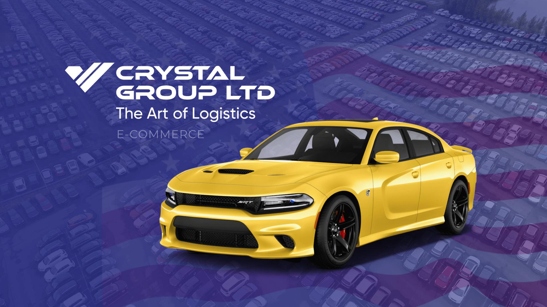 Cайт для компанії Crystal Group LTD з прив'язкою до Copart