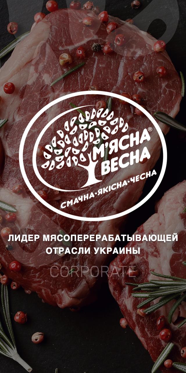 """Розробка корпоративного сайту для ТМ """"М'ясна Весна"""""""